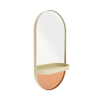Wandspiegel mit Ablage, Oval - creme by REMEMBER