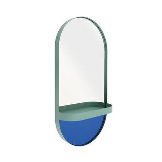 Wandspiegel mit Ablage, Oval - mint by REMEMBER