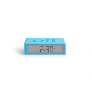FLIP+ LCD Funk-Wecker - Turquoise Blue by LEXON Design
