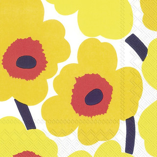 Cocktail-Servietten UNIKKO - dark yellow marimekko by IHR