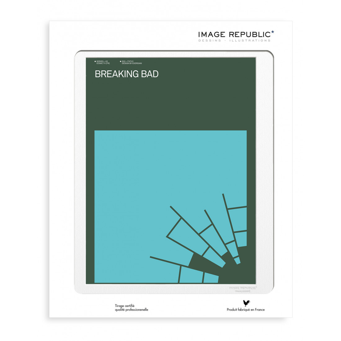 EXERGIAN TV BREAKING BAD Wandbild 30x40cm by Image Republic: