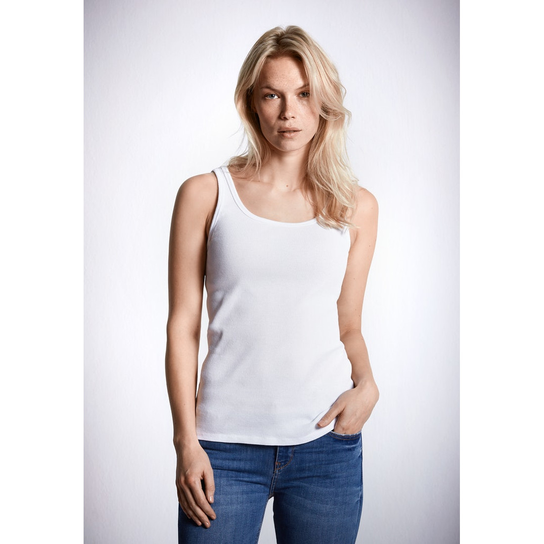 Tank Top Greta - weiss by Schiesser Revival