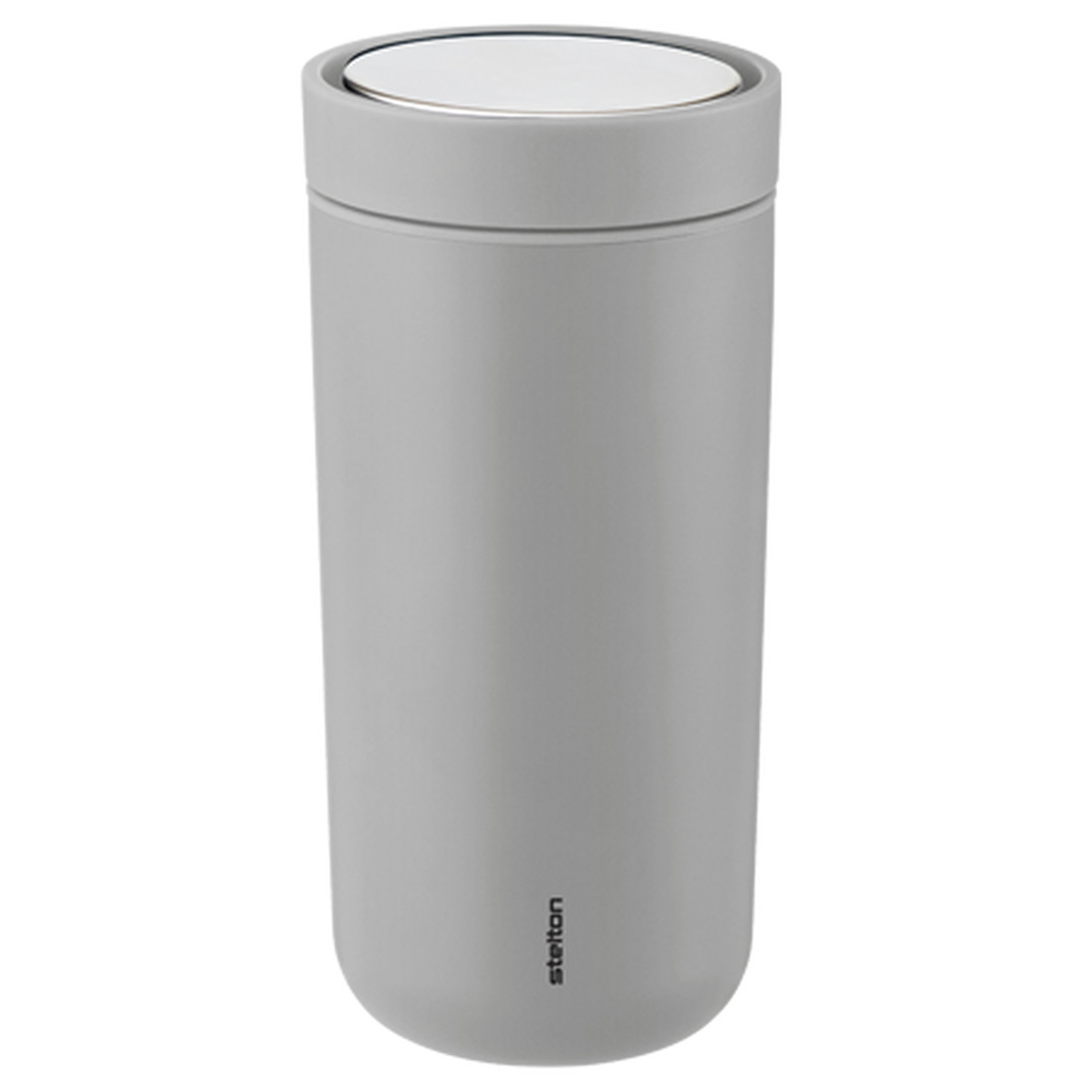 To Go Click Thermobecher Edelstahl 0,4l - light grey by stelton