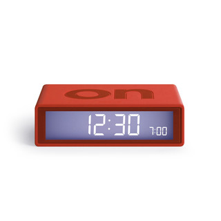 FLIP LCD Funk-Wecker - Red by LEXON Design LR150.R9